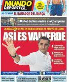 O Βαλβέρδε παίζει μπάλα ΜΟΝΟΣ του στα καταλανικά πρωτοσέλιδα!