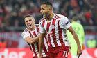 Ο Ελ Αραμπί πανηγυρίζει με τον Ελαμπντελαουί το τέρμα που πέτυχε για λογαριασμό του Ολυμπιακού κόντρα στον Ερυθρό Αστέρα, χάρη στο οποίο οι 'ερυθρόλευκοι' προκρίθηκαν στην φάση των 32 του Europa League, ως τρίτοι από το Group B του Champions League (11/12/2019)