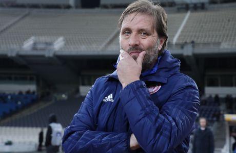Ο Πέδρο Μαρτίνς συμπλήρωσε 128 ματς στον πάγκο του Ολυμπιακού για όλες τις διοργανώσεις, στην αναμέτρηση με την ΑΕΛ (5-1) για την 13η αγ. της Super League Interwetten   20/12/2020 (LATO KLODIAN / EUROKINISSI)