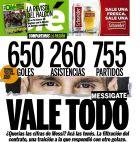 """Η απάντηση της αργεντίνικης Olé στην ισπανική El Mundo: """"Τα αξίζει όλα"""" λέει ο τίτλος και ακολουθεί ο υπότιτλος: """"Ήθελες τα νούμερα του Μέσι; Εδώ τα έχεις""""."""