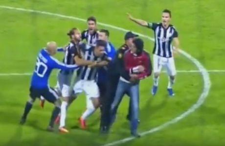 Ποδοσφαιριστής πήγε να πλακώσει οπαδό!