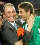 Λοπέρα και Χοακίν πανηγυρίζουν την κατάκτηση του Copa del Rey το 2005.