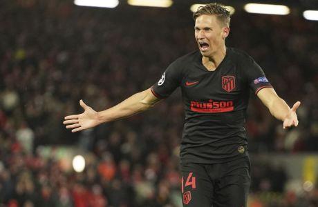 Ο Γιορέντε σκόραρε δύο φορές στην παράταση για το τελικό 2-3 ανάμεσα σε Λίβερπουλ και Ατλέτικο στο 'Anfield', που σε συνδυασμό με το 1-0 της Μαδρίτης έστειλε τους 'ροχιμπλάνκος' στα προημιτελικά του Champions League με το συνολικό 4-2. (11/03/2020) - AP Photo/Jon Super