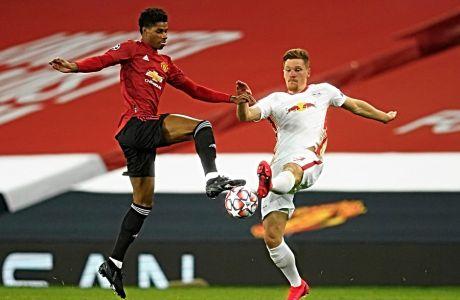 Εναντίον της Λειψίας, ο Mάρκους Ράσφορντ έγινε ο σκόρερ του πιο γρήγορου hat trick, στην ιστορία του UEFA Champions League.