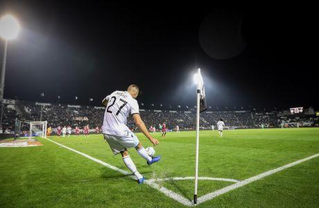 Ο Γιόσιπ Μίσιτς του ΠΑΟΚ σε στιγμιότυπο της αναμέτρησης με την ΑΕΛ για τη Super League 1 2019-2020 στο γήπεδο της Τούμπας, Σάββατο 7 Δεκεμβρίου 2019