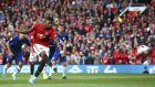 Ο Μάρκους Ράσφορντ της Μάντσεστερ Γιουνάιτεντ εκτελεί πέναλτι κατά τη διάρκεια του αγώνα με την Τσέλσι για την Premier League 2019-2020 στο 'Ολντ Τράφορντ', Μάντσεστερ, Κυριακή 11 Αυγούστου 2019