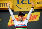 Ο Τομ Ντιμουλάν στην τελευταία του νίκη σε ετάπ του Tour, στο ατομικό χρονόμετρο της διοργάνωσης του 2018.