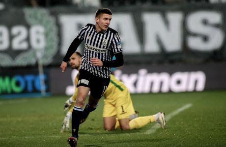 Ο Χρήστος Τζόλης του ΠΑΟΚ πανηγυρίζει γκολ που σημείωσε κόντρα στην ΑΕΛ για τον 1ο αγώνα της φάσης των 16 του Κυπέλλου Ελλάδας 2020-2021 στο γήπεδο της Τούμπας | Τετάρτη 20 Ιανουαρίου 2021
