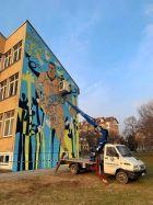 Το αυτοκρατορικό mural προς τιμήν του Νίκολα Γιόκιτς