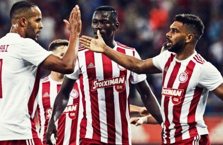 Σουντανί και Ελ Αραμπί ήταν οι σκόρερ του Ολυμπιακού στο 2-0 επί της Λαμίας στο 'Γ. Καραϊσκάκης', για την 5η αγ. της Super League 2019-2020.