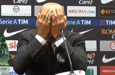 Σόου Σπαλέτι: Χτύπησε το κεφάλι του μετά από ερώτηση δημοσιογράφου!