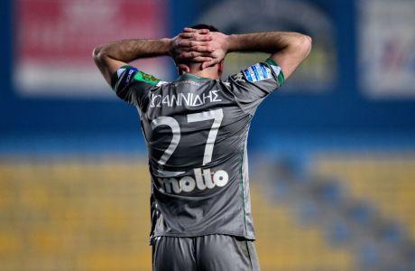 Ο Φώτης Ιωαννίδης του Παναθηναϊκού σε στιγμιότυπο της αναμέτρησης με τον Παναιτωλικό για τη Super League Interwetten 2020-2021 στο Γήπεδο Παναιτωλικού | Δευτέρα 22 Φεβρουαρίου 2021