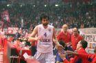 Ο Μίλος Τεόντοσιτς της ΤΣΣΚΑ σε στιγμιότυπο της αναμέτρησης με τον Ολυμπιακό για τη Euroleague 2014-2015 στο Στάδιο Ειρήνης και Φιλίας, Πέμπτη 5 Φεβρουαρίου 2015