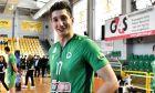 Ο Παναγιώτης Πελεκούδας του Παναθηναϊκού σε στιγμιότυπο της αναμέτρησης με την Ελπίδα Αμπελοκήπων για τη Volley League 2019-2020 | Κυριακή 1 Μαρτίου 2020