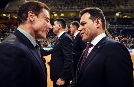 Ρικ Πιτίνο και Δημήτρης Ιτούδης από τον πρόσφατο αγώνα του Παναθηναϊκού ΟΠΑΠ με την ΤΣΣΚΑ Μόσχας στο ΟΑΚΑ