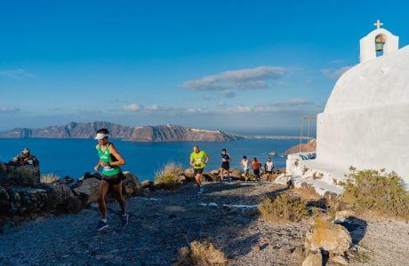 Running photo @ Santorini Experience (photo by Mike Tsolis)