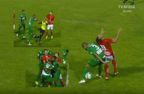 Παίκτης ξέσπασε πετώντας κάτω τον διαιτητή!