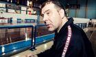 Ο Τζανης Σταυρακόπουλος στο κλειστό γήπεδο της Καλλιθέας