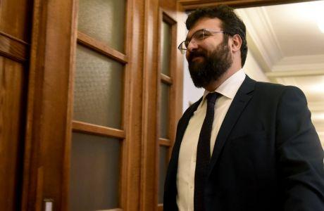 Συνεδρίαση του πρώτου υπουργικού συμβουλίου για το 2018 σήμερα στην βουλή.Στην φωτογραφία ο υφυπουργός αθλητισμού Γιώργος Βασιλειάδης,Δευτέρα 8 Ιανουαρίου 2018 (EUROKINISSI/ΤΑΤΙΑΝΑ ΜΠΟΛΑΡΗ)