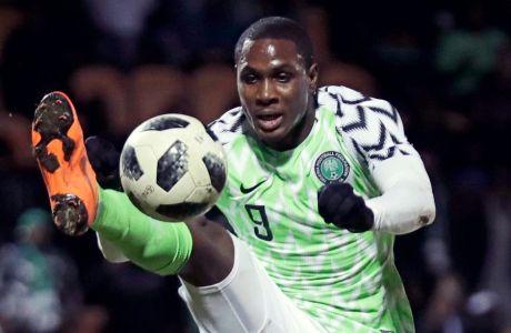 Ο Όντιον Ιγκάλο ως διεθνής με τη Νιγηρία στο Παγκόσμιο Κύπελλο του 2018