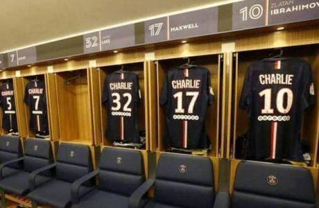 """Με το """"Charlie"""" στην πλάτη οι παίκτες της Παρί (PHOTO)"""
