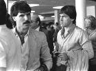 O Νίκος Αναστόπουλος σε δημόσια εμφάνιση του κατά τις αρχές της δεκαετίας του 80