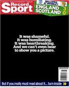 Το... ακατάλληλο πρωτοσέλιδο εφημερίδας για την ήττα της Σκωτίας