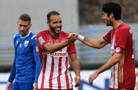 Ελ Αραμπί και Μπουχαλάκης ήταν οι δύο από τους έξι (!) σκόρερ του Ολυμπιακού στο 0-6 επί της Λαμίας στο 'Αθανάσιος Διάκος' για την 12η αγ. της Super League Interwetten | 13/12/2020 (ΦΩΤΟΓΡΑΦΙΑ: ΑΝΤΩΝΗΣ ΝΙΚΟΛΟΠΟΥΛΟΣ / EUROKINISSI)