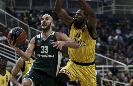 14/01/2018 AEK Vs Panathinaikos for Basketleague season 2017-18 inOAKA Stadium, Athens, Greece  Photo by Georgia Panagopoulou / Tourette Photography