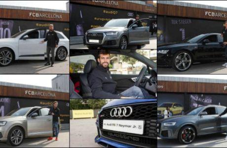 Τα νέα Audi των παικτών της Μπαρτσελόνα!