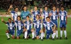 FC Porto players pose before their match against Sporting, Saturday May 22 1999, in Lisbon. The game ended in a 1-1 draw but Porto had already clinched the championship title a couple hours before after second placed Boavista, 5 points behind, failed to win their match with only one round left for the end of the season. Players are, from left to right; back, Emilio Peixe, Jorge Costa, Nuno Capucho, Mario Jardel, Pires Aloisio; front, Esquerdinha, Carlos Secretario, Deco, Zlatko Zahovic and Ljubinko Drulovic  (AP Photo/Gael Cornier)