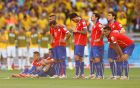 BELO HORIZONTE, BRAZIL - JUNE 28:  Chile players look on preparing for penalty kicks during the 2014 FIFA World Cup Brazil round of 16 match between Brazil and Chile at Estadio Mineirao on June 28, 2014 in Belo Horizonte, Brazil.  (Photo by Ronald Martinez/Getty Images)
