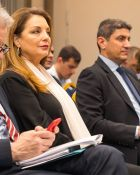 Από αριστερά: Πρόεδρος Ελληνικού Οργανισμού Τουρισμού Άντζελα Γκερέκου, Υφυπουργός Πολιτισμού & Αθλητισμού Λευτέρης Αυγενάκης