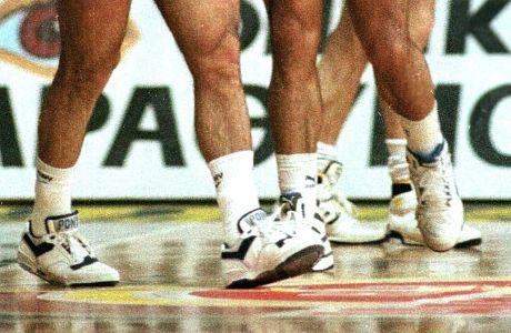 Άποψη από τα Pony sneakers που φορούσε ο Νίκος Γκάλης στα τέλη της δεκαετίας του `80