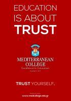 MEDITERRANEAN COLLEGE: Αυτή τη φορά εμπιστεύσου τον εαυτό σου!