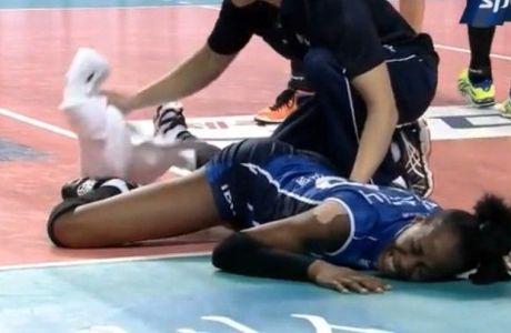 Σοκαριστικός τραυματισμός για την Χούκερ (VIDEO)