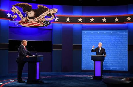 October 22, 2020, Nashville, Tennessee, USA: Democratic presidential candidate former Vice President Joe Biden speaks during the final presidential debate with Republican presidential candidate President Donald Trump, on the campus of Belmont University, in Nashville, Tennessee on Thursday, October 22, 2020 Nashville USA - ZUMAs152 20201022_zaa_s152_162 Copyright: xKevinxDietschx-xPoolxViaxCnpx