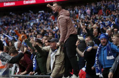 Οι οπαδοί της Λέστερ επέστρεψαν στο γήπεδο το περασμένο Σάββατο. Πήγαν στο Γουέμπλεϊ και είδαν την ομάδα τους να κερδίζει το Κύπελλο Αγγλίας!