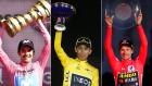 Καραπάς, Μπερνάλ και Ρόγκλιτς, νικητές του Giro, του Tour και της Vuelta αντίστοιχα.