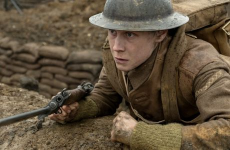 George MacKay as Schofield in 1917, co-written and directed by Sam Mendes.