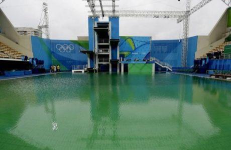 """Αλλάζουν το νερό στην """"πράσινη"""" πισίνα του Ρίο"""