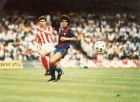 Ο Μαραντόνα στην πρώτη του σεζόν στη Μπαρτσελόνα, με αντίπαλο τον Ερθρό Αστέρα για το Κύπελλο Κυπελλούχων.