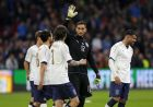 Italy's goalkeeper Gianluigi Donnarumma, center, celebrates with the team after winning the international friendly soccer match between The Netherlands and Italy at the Amsterdam ArenA stadium, Netherlands, Tuesday, March 28, 2017. The Netherlands were defeated by Italy with 1-2. (AP Photo/Peter Dejong)