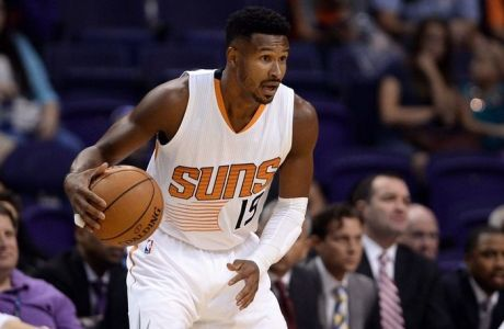 Oct 5, 2016; Phoenix, AZ, USA; Phoenix Suns guard Leandro Barbosa (19) handles the ball in the first half of the game against the Utah Jazz at Talking Stick Resort Arena. Mandatory Credit: Jennifer Stewart-USA TODAY Sports
