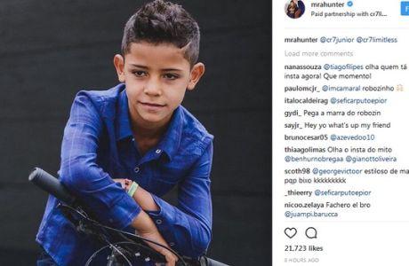 """Ο γιος του Ρονάλντο """"γκρέμισε"""" το Instagram με τη photo που ανέβασε!"""