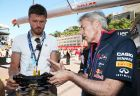 MONTE-CARLO, MONACO - MAY 23:  England and Manchester United footballer Michael Carrick visits the Infiniti Red Bull Racing team garage ahead of the Monaco Formula One Grand Prix at Circuit de Monaco on May 23, 2014 in Monte-Carlo, Monaco.  (Photo by Mark Thompson/Getty Images) *** Local Caption *** Michael Carrick