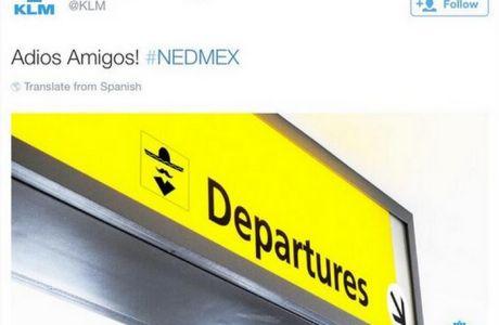 Πικάρισμα της βασιλικής ολλανδικής εταιρίας αερογραμμών στους Μεξικάνους