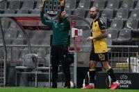 Ο Μάρκο Λιβάγια έγινε αλλαγή στην αλλαγή στην εκτός έδρας ήττα της ΑΕΚ από την Μπράγκα, στην πρεμιέρα των ομίλων του Europa League 2020-2021. Ο Κροάτης μπήκε στο ματς με το σκορ στο 1-0, που έφτασε στο τελικό 3-0 από δύο δικά του λάθη. (EUROKINISSI)