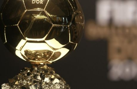 The FIFA Ballon d'Or cup for the world's best player of the year   is shown at the FIFA Ballon dOr awarding ceremony in Zurich, Switzerland, Monday, Jan. 10, 2011.   (AP Photo/Frank Augstein)