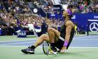 Ο Ράφα Ναδάλ πανηγυρίζει τη νίκη του επί του Ντανιίλ Μεντβέντεφ στον τελικό του US Open 2019, Νέα Υόρκη, Κυριακή 8 Σεπτεμβρίου 2019
